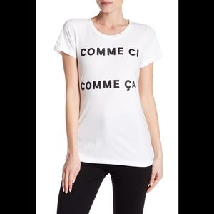 French Connection Comme Ci Comme Ca Graphic Tee